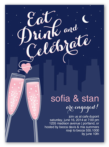 Sweetheart Toast Engagement Party Invitation