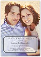 stylish affair engagement party invitation 5x7 flat