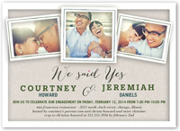 just said yes engagement party invitation 5x7 flat