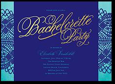fancy finery bachelorette party invitation