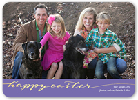 scripted happy easter card 5x7 flat