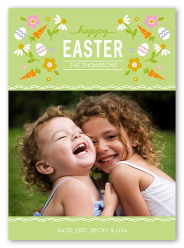 Carrot Confetti Easter Card, Square Corners