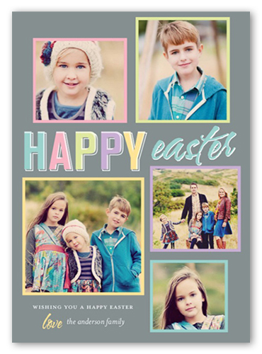 Fun Frames Easter Card, Square Corners