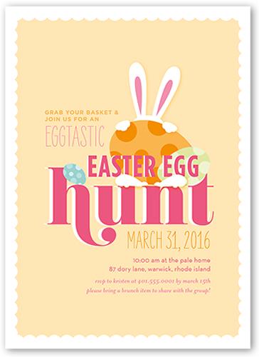 Eggtastic Egg Hunt Easter Invitation