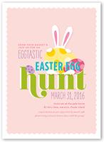 eggtastic egg hunt easter invitation 5x7 flat