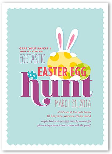 Eggtastic Egg Hunt Easter Invitation, Square Corners
