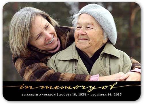 In Memory Of Sympathy Card, Rounded Corners