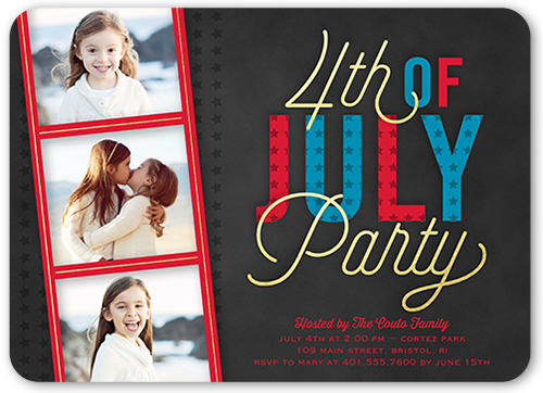American Patriot Summer Invitation, Rounded Corners