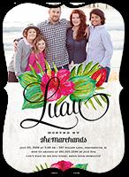 floral luau summer invitation 5x7 flat