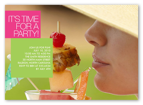 Time To Party Summer Invitation