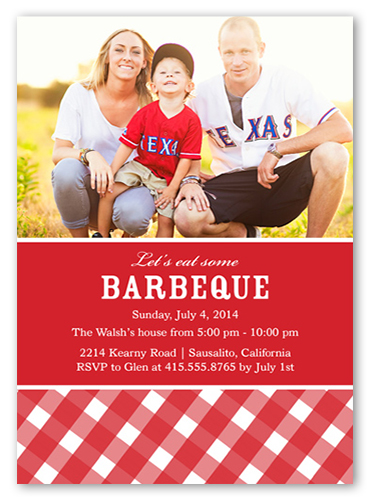 BBQ 5x7 Surprise Party Invitations