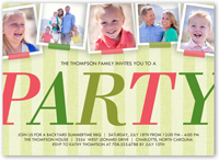 big party collage summer invitation 5x7 flat