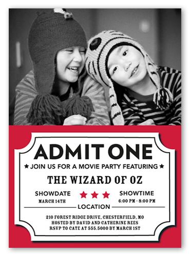 Movie Pass Summer Invitation, Square Corners
