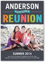 colorful reunion summer invitation 5x7 flat