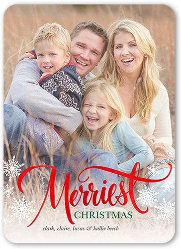 Merriest Snowflakes Christmas Card