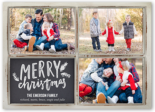 Merriest Wooden Frames Christmas Card