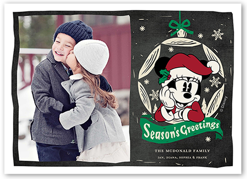 Disney Minnie Mouse Greeting Christmas Card, Square