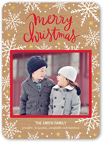 Whimsy And Merry Christmas Card, Rounded Corners