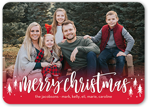 merry wonderland christmas card - Family Photo Christmas Cards