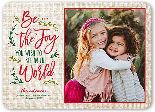 Be The Joy Christmas Card, Square