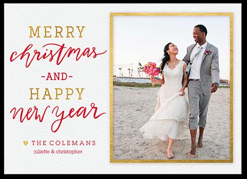 Beautiful Framed Greeting Christmas Card, Square Corners