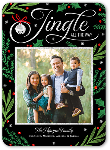 Lovely Jingle Christmas Card, Rounded Corners