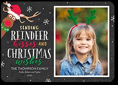 reindeer kisses christmas card
