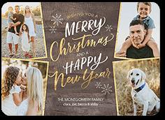rustic glam greetings christmas card