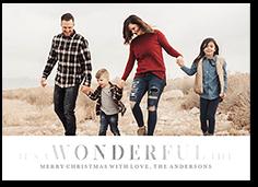 very wonderful christmas card