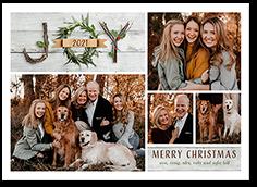joyfully rustic christmas card