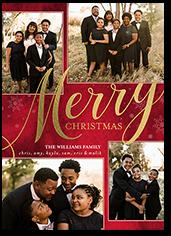 cursive cheer christmas card
