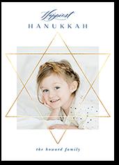 elegant star hanukkah card