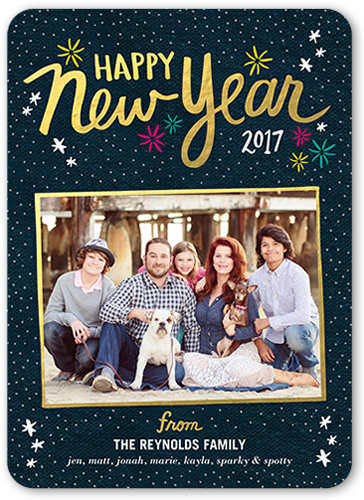 Cheerful Stars New Year's Card