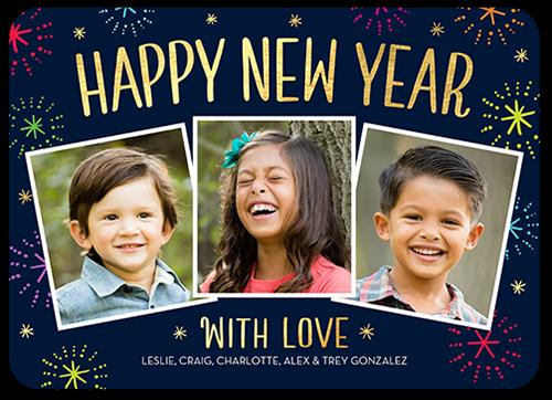 Gleeful Cheer New Year's Card
