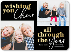 cheer through the year new years card