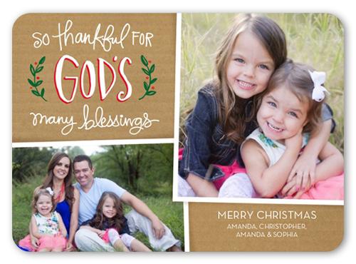 So Thankful Religious Christmas Card