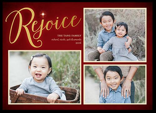 Gleaming Rejoice Religious Christmas Card