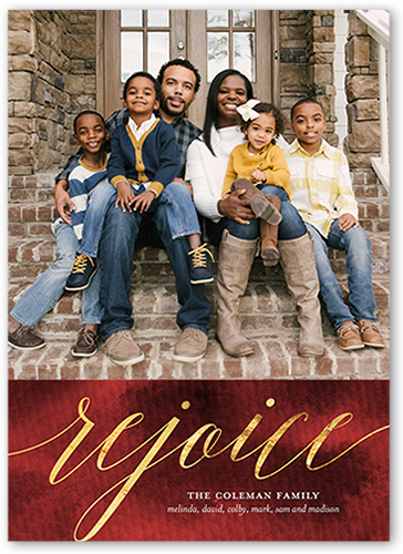 Rejoice Season Religious Christmas Card, Square