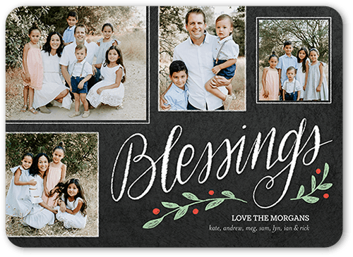 Season Blessings Religious Christmas Card, Square