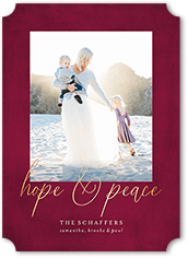 hope and peace religious christmas card