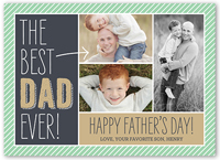best dad fathers day card 5x7 flat