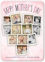 sunburst collage mothers day card 5x7 flat