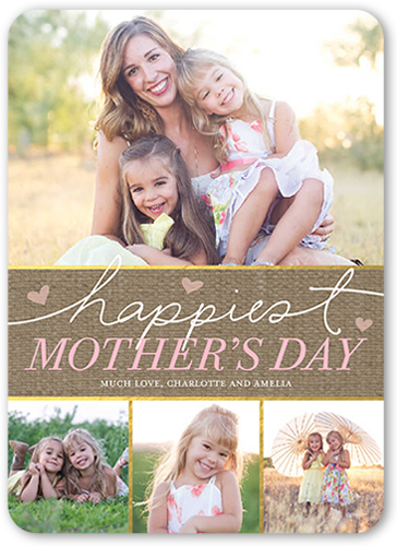 Happiest Hearts Mother's Day Card, Rounded Corners