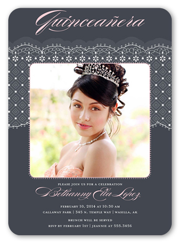 Elegance And Lace Quinceañera, Rounded Corners