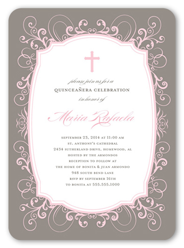15th birthday invitations shutterfly formal frame quinceaera stopboris Gallery