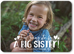 big sister pregnancy announcement 5x7 flat
