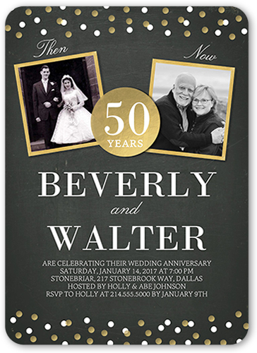 Golden Anniversary Invitations 50th Wedding Anniversary