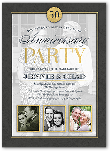 25th wedding anniversary invitations shutterfly classic anniversary wedding anniversary invitation stopboris Images