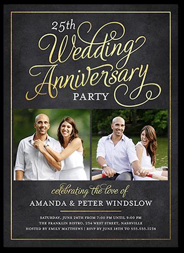 Scrolled Script 5x7 Wedding Anniversary