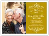 memorable years wedding anniversary invitation 5x7 flat